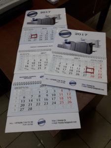 Квартальные календари в Витебске. Большой 21 х 84 см, трип рекламных поля по 6 см. Перекидной календарь 21 х 42 см, одно рекламное поле 6 см.