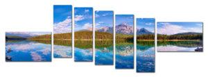 "Модульная картина пейзаж ""У озера"" арт. п001 60см х 180см"